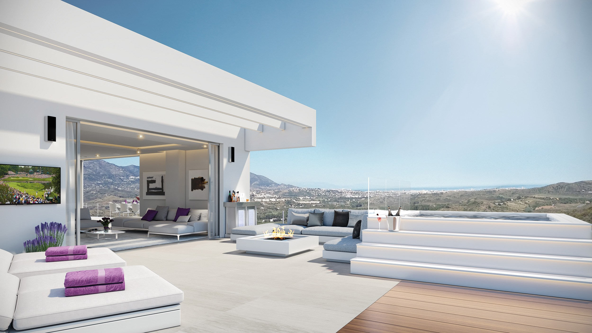Phoenix Resort La Cala Marbella, interior terraza