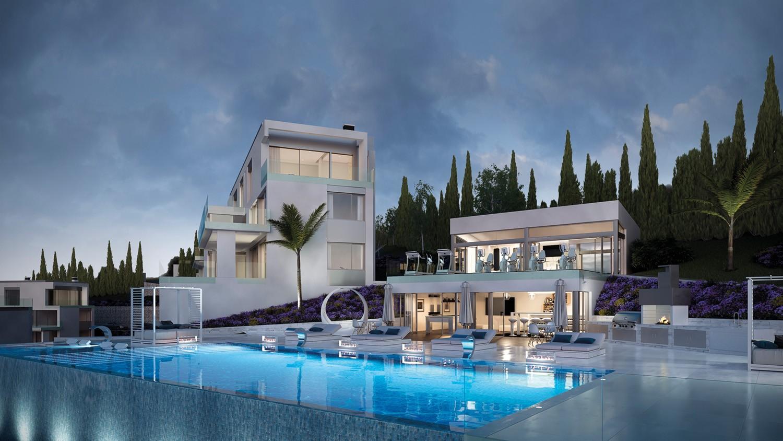 Vista nocturna Exterior Piscina Phoenix Resort la Cala