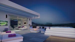 Vista Nocturna Interior Terraza Phoenix Resort la Cala