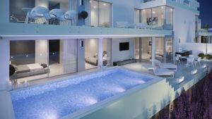 Phoenix Resort La Cala Marbella, vista nocturna piscina